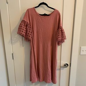 Lane Bryant - Pink Dress w/ Decorative Sleeves
